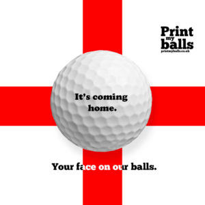 its coming home printed golf ball